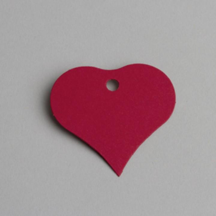 Lot de 12 étiquettes Cœur rouges
