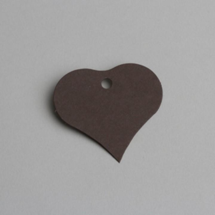 Lot de 12 étiquettes coeur chocolat