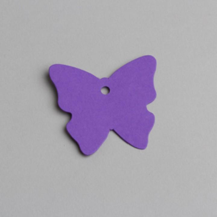 Lot de 12 étiquettes papillon lilas