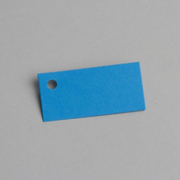 Lot de 12 étiquettes rectangle bleue