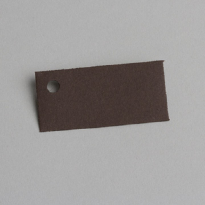 Lot de 12 étiquettes rectangle chocolat