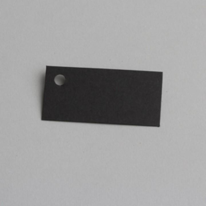 Lot de 12 étiquettes rectangle noire