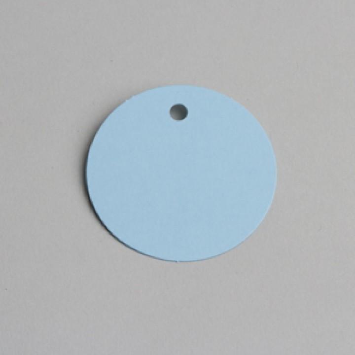 Lot de 12 étiquettes ronde bleues