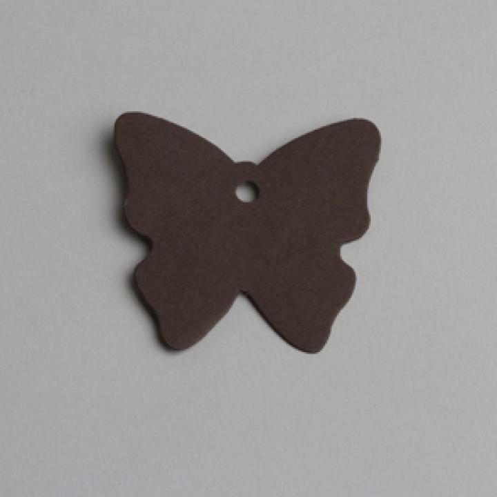 Lot de 12 étiquettespapillon chocolat