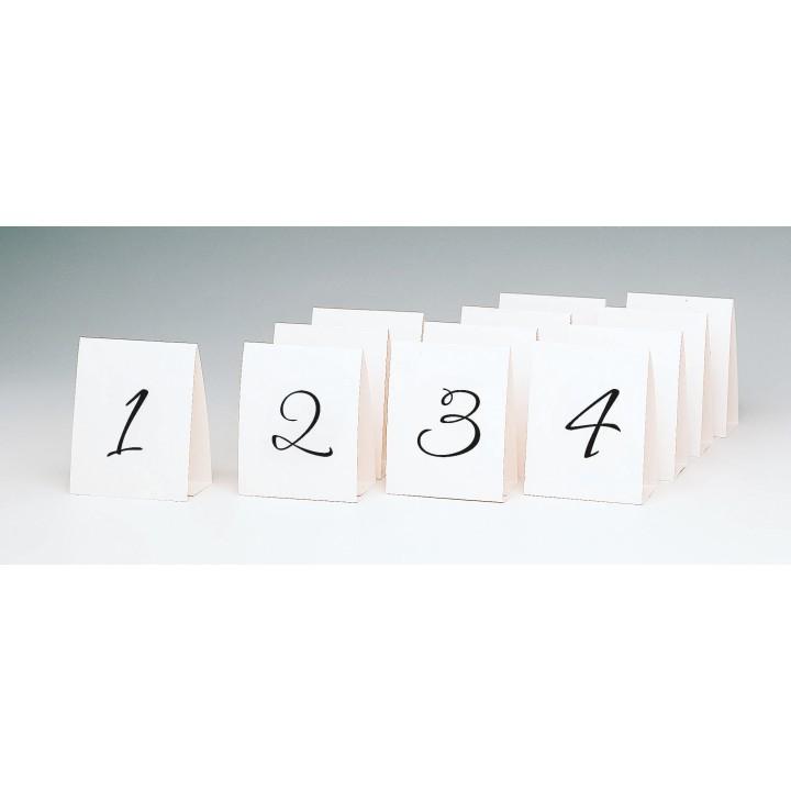 Lot de 12  Marque- table 1 à 12   39,6 cm x 11,7 cm
