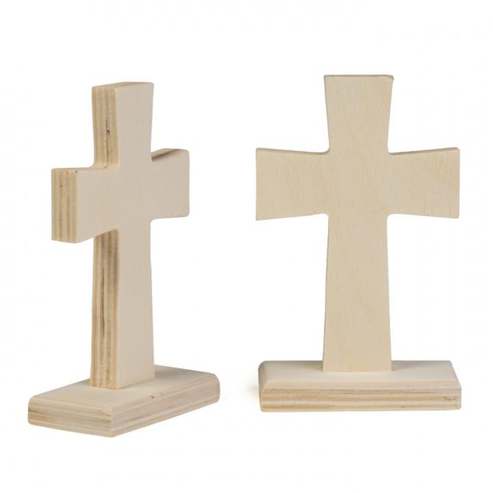Lot de 2 Croix bois 6 x 3 x 9,5 cm