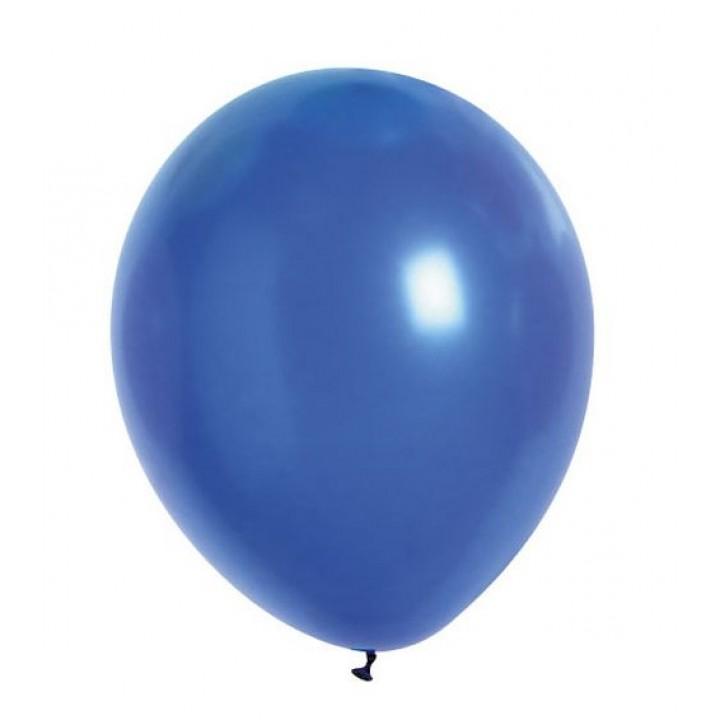 Lot de 20 ballons de baudruche en latex opaque bleu