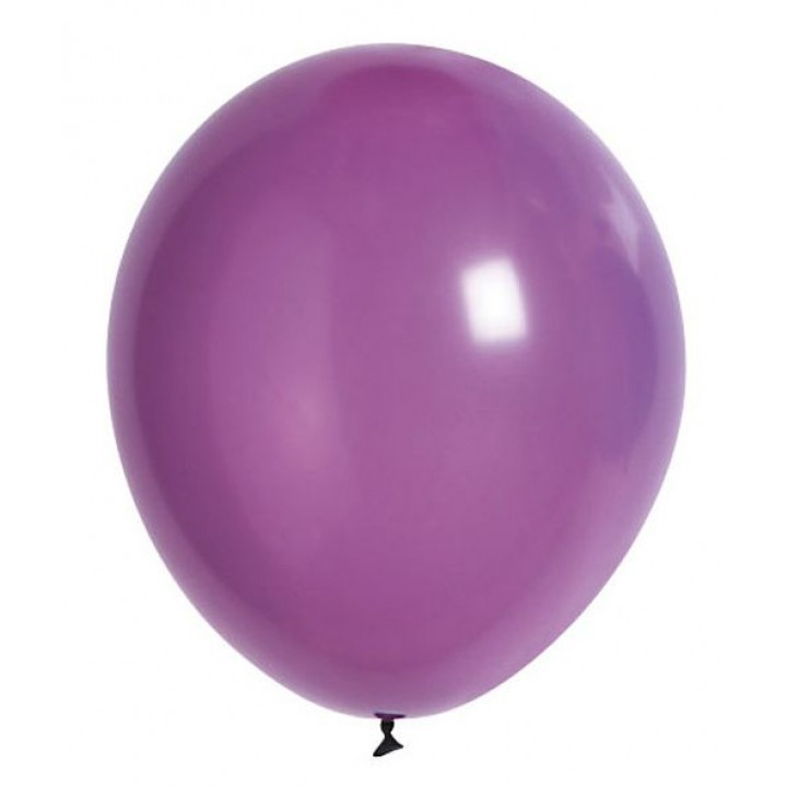 Lot de 20 ballons de baudruche en latex opaque lilas