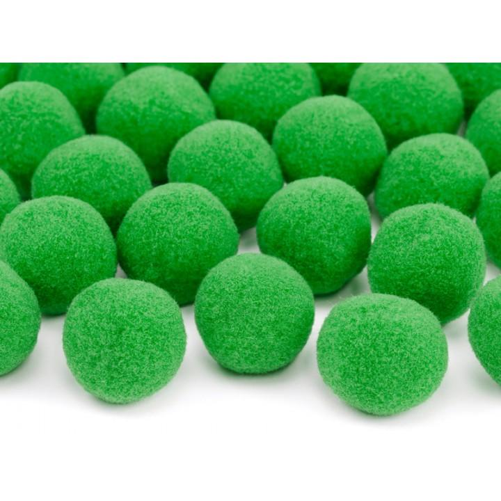 Lot de 20 boules pompon vert clair 2 cm