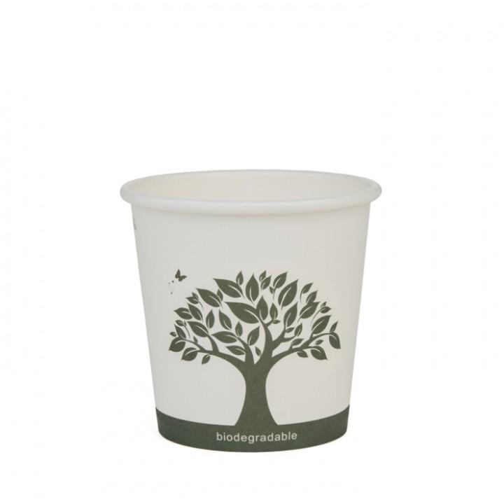 Lot de 20 Gobelets jetables carton blanc biodégradable 10 cl