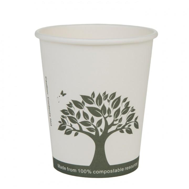 Lot de 20 Gobelets jetables carton blanc biodégradable 20 cl