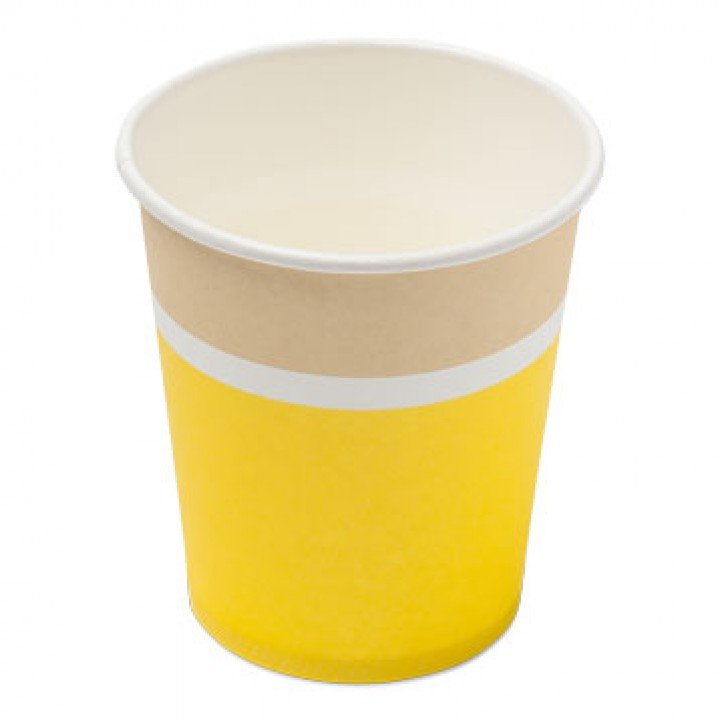 Lot de 20 gobelets jetables en carton Citron 200ml