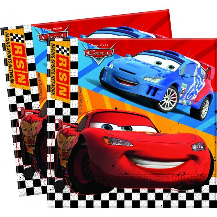 Lot de 20 serviettes en papier Cars