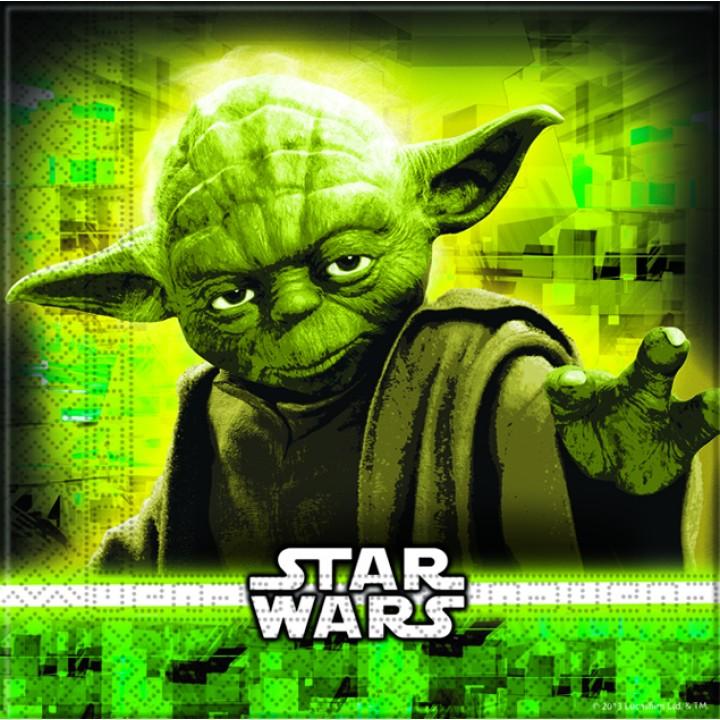 Lot de 20 serviettes Star Wars 33x33 cm