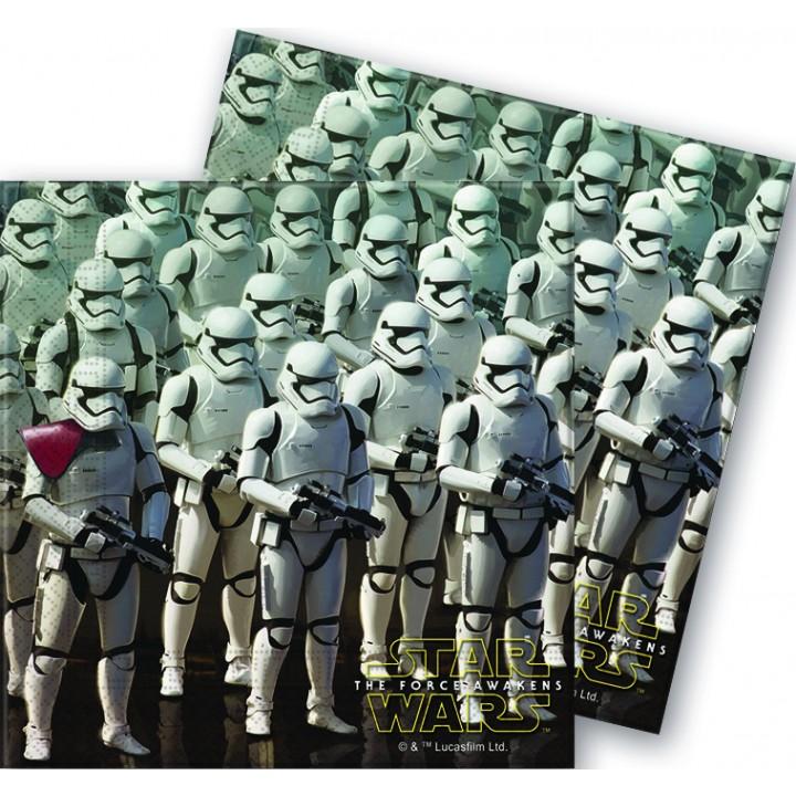 Lot de 20 serviettes Star Wars VII en papier 33 x 33 cm
