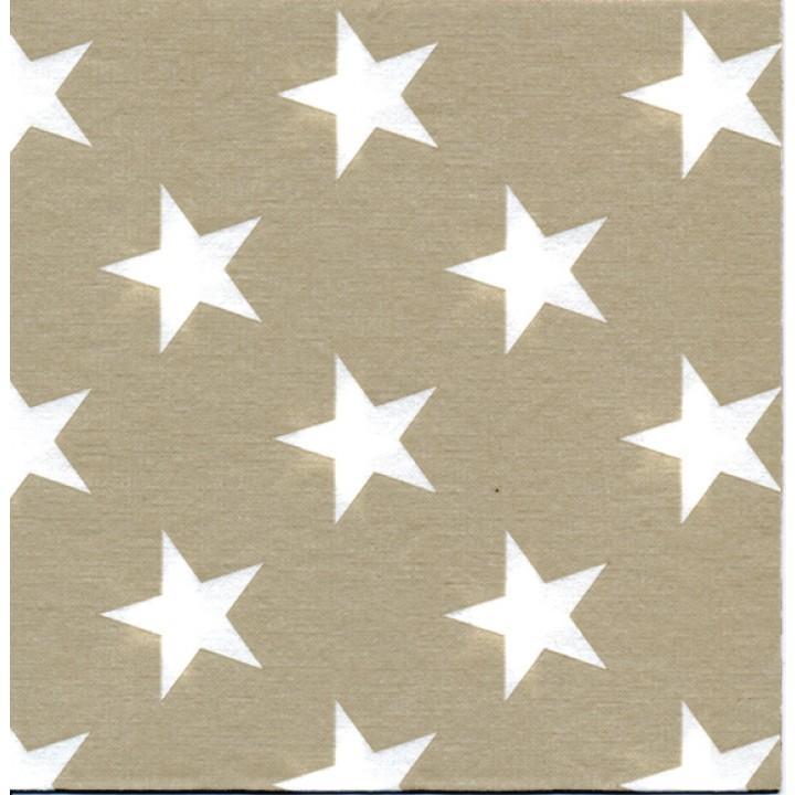 Lot de 20 serviettes Stars or intissé 40 x 40 cm