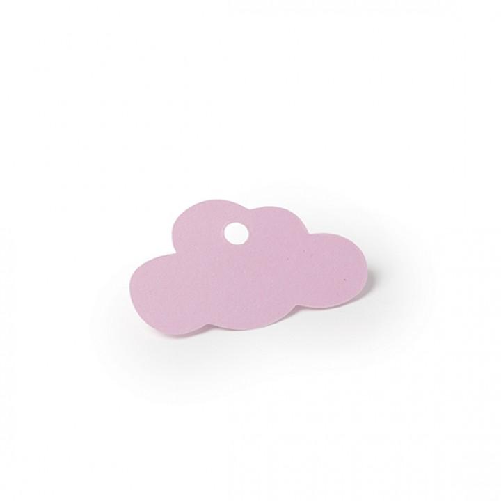 Lot de 24 étiquettes Nuage rose 5 x 3 cm