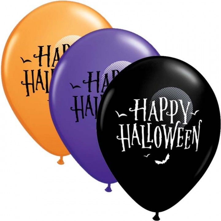 Lot de 25 Ballons Happy halloween en latex