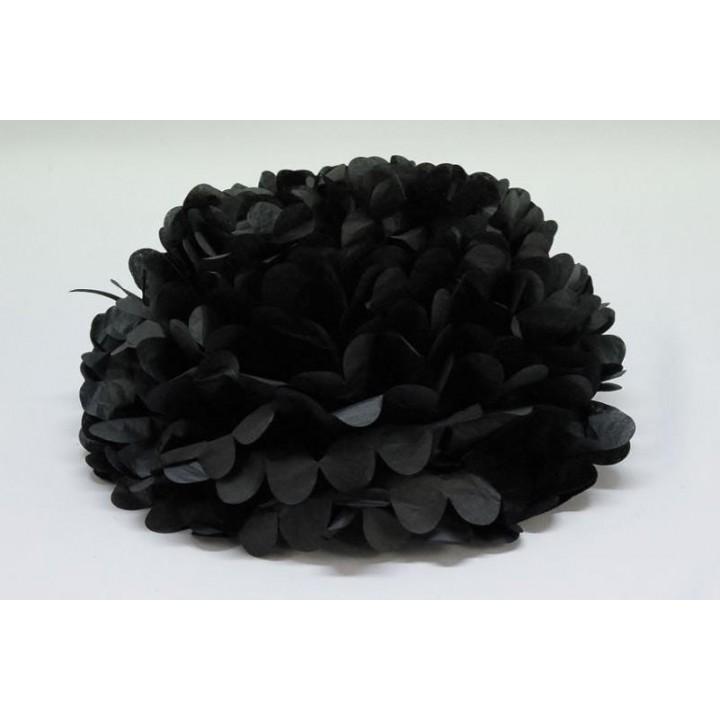 Lot de 3 fleurs noires déco D 30 cm