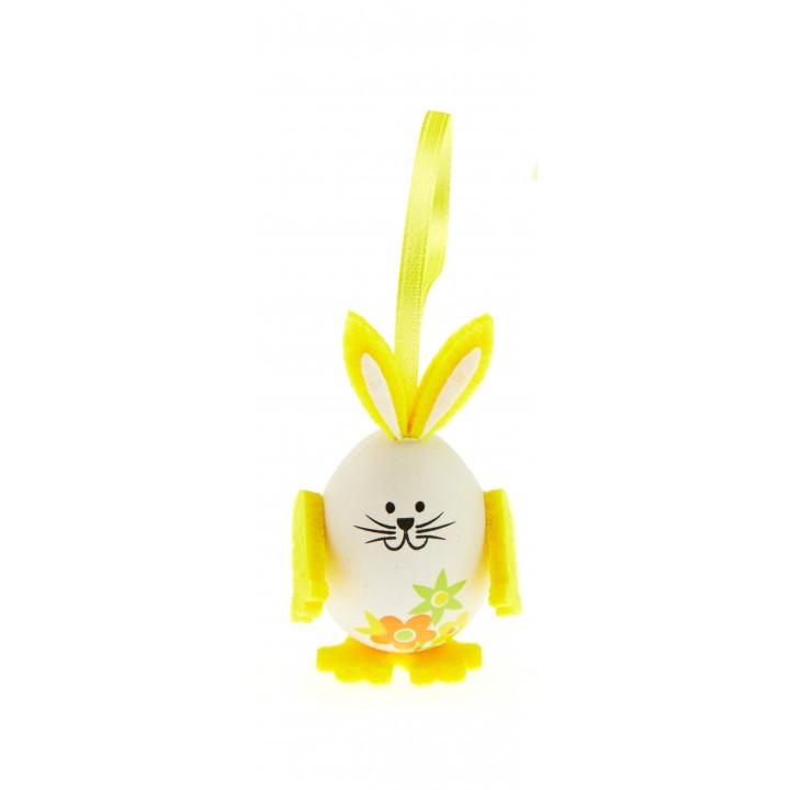 Lot de 3 lapins œuf jaune