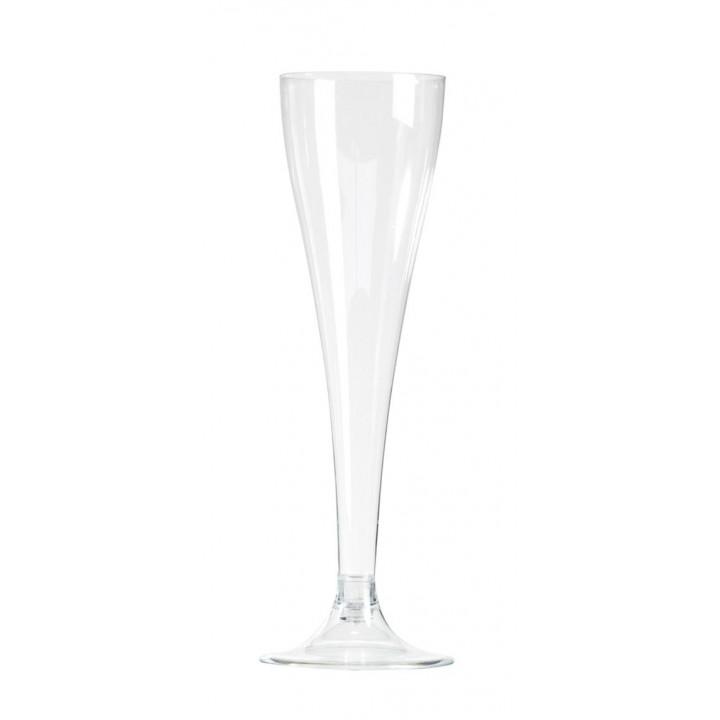 Lot de 30 flûtes à champagne jetables en plastique10 cl