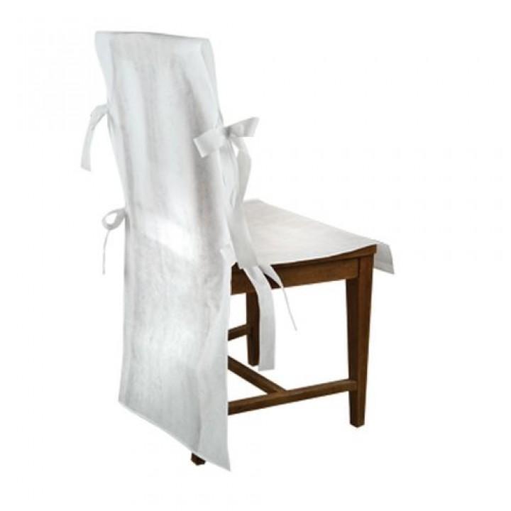 Lot de 4 housses de chaise blanches