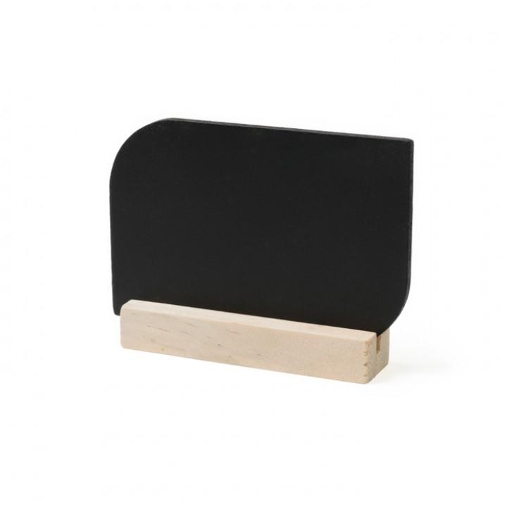 Lot de 4 marque-place Tableau arrondi noir double face 9 x 6 cm