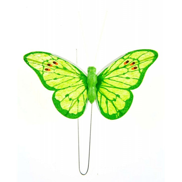 Lot de 4 papillons tilleul