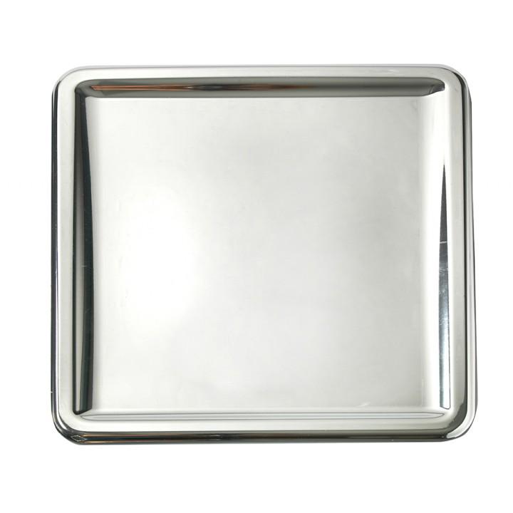 Lot de 4 plats carrés jetables Argent 30 x 30 cm