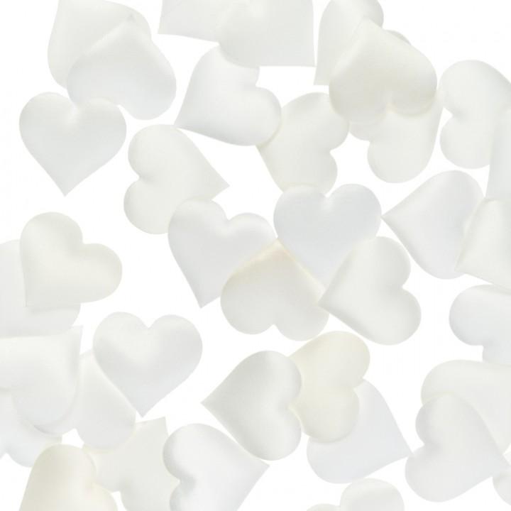 Lot de 40 Coeurs Satin crème 3,5 cm