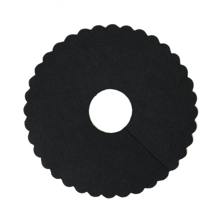 Lot de 48 collerettes pour verre à pied noir D 8 cm