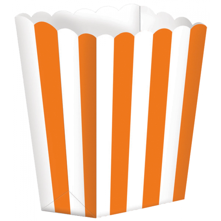 Lot de 5 boîtes Popcorn orange