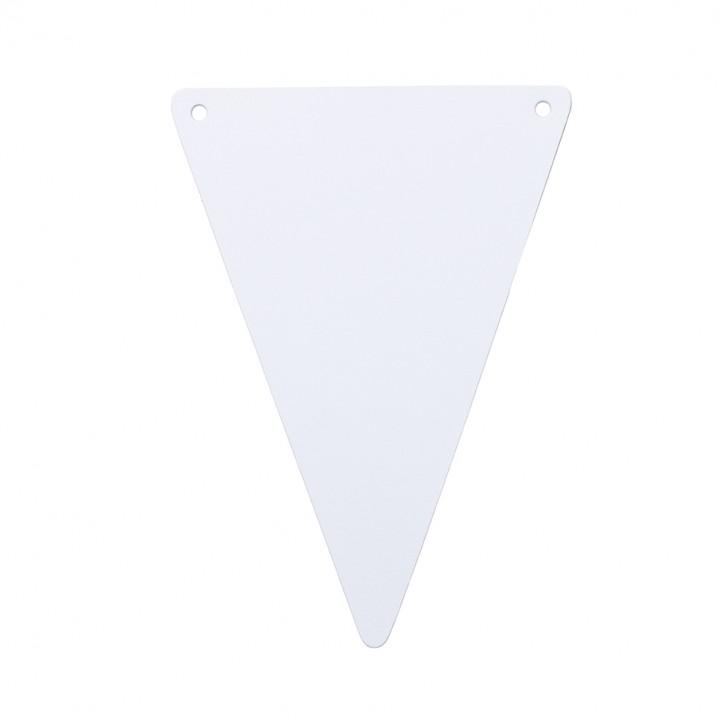Lot de 5 fanions blanc 15 x 21 cm