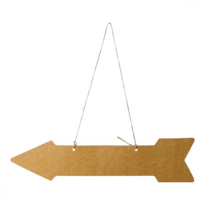 Lot de 5 flèches signalétiques Kraft 45 x 10 cm
