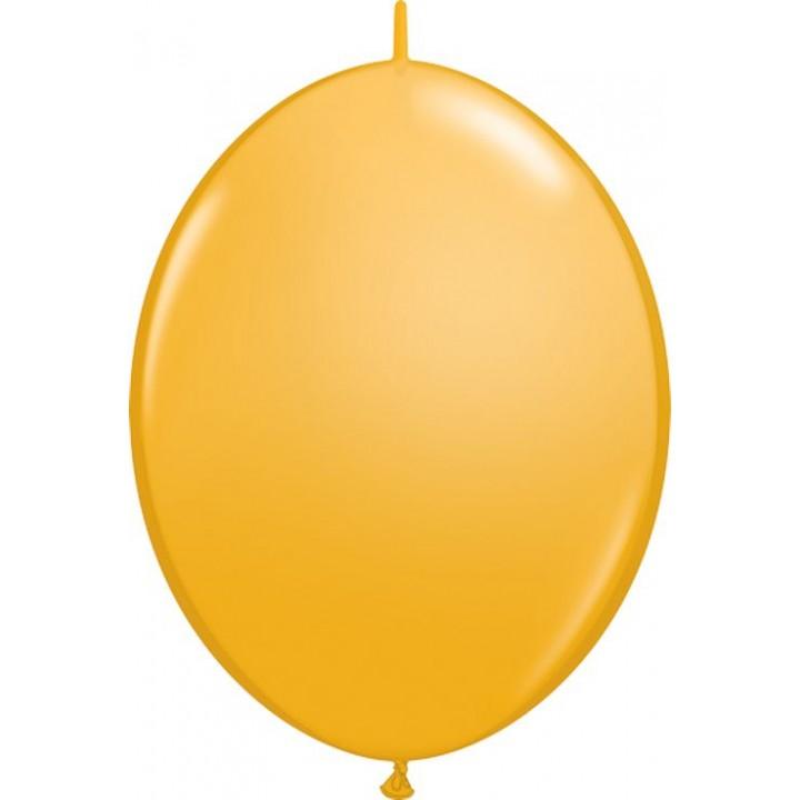 Lot de 50 ballons double attache en latex orange