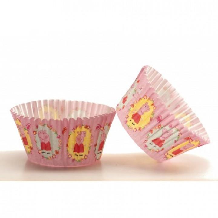 Lot de 50 Caissettes pour cupcake Peppa Pig 5 cm x 3 cm