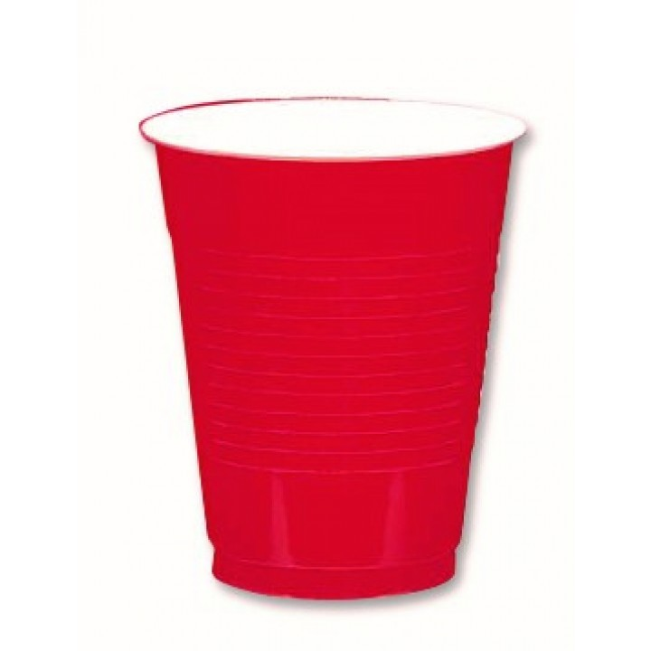 Lot de 50 gobelets cups rouges 50 cl