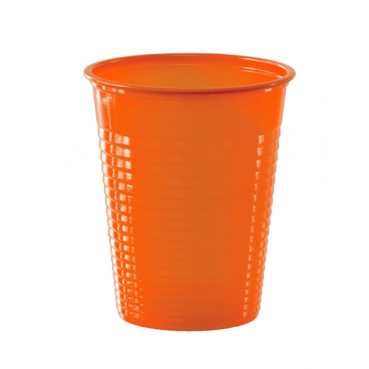 Lot de 50 gobelets jetables en plastique orange20 cl