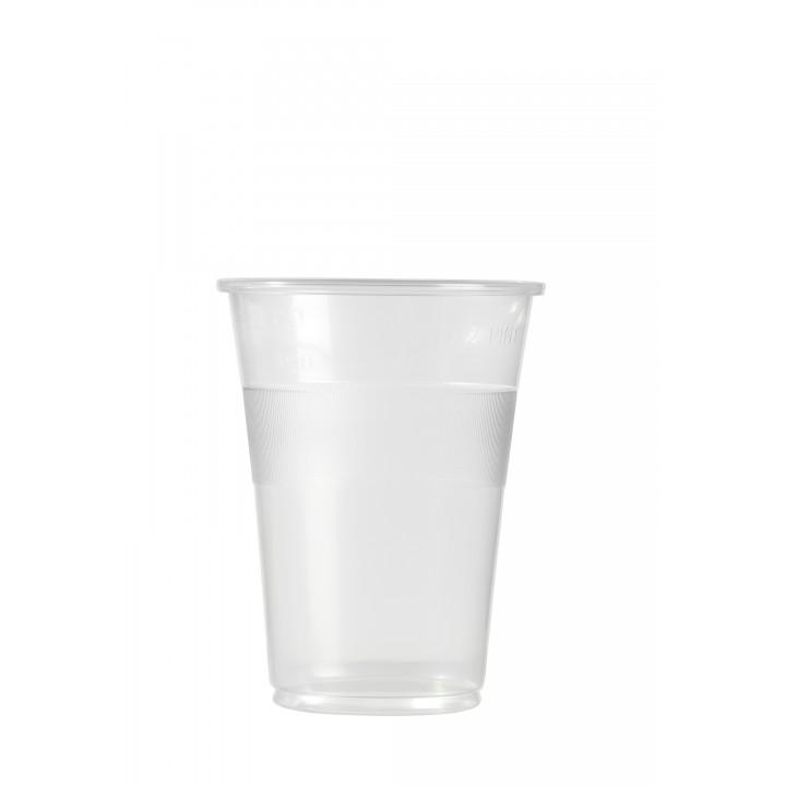 Lot de 50 gobelets1/2 pinte en plastique transparent