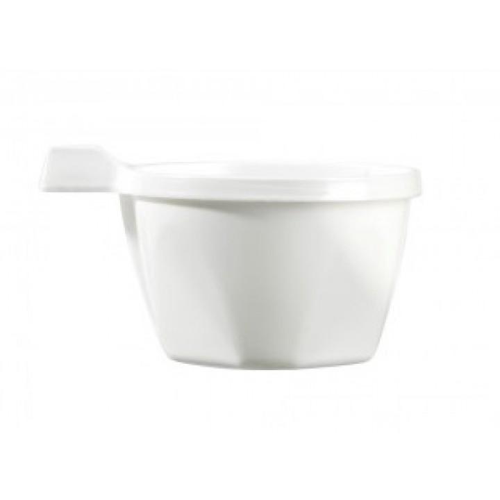 Lot de 50 tasses à café avec anse jetables  en plastique blanc