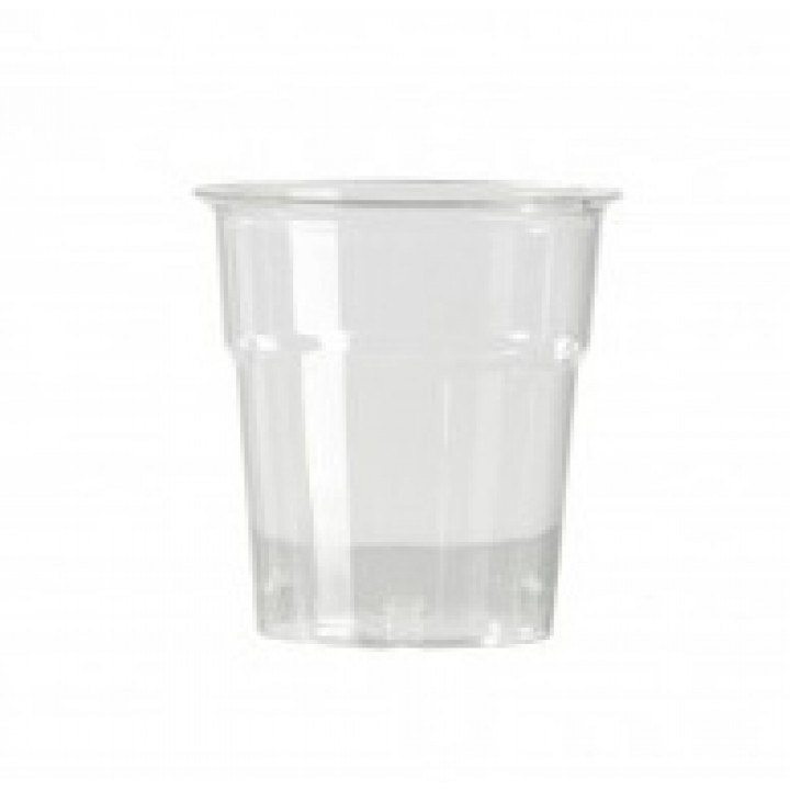 Lot de 50 verres jetables en plastique transparent 10 cl