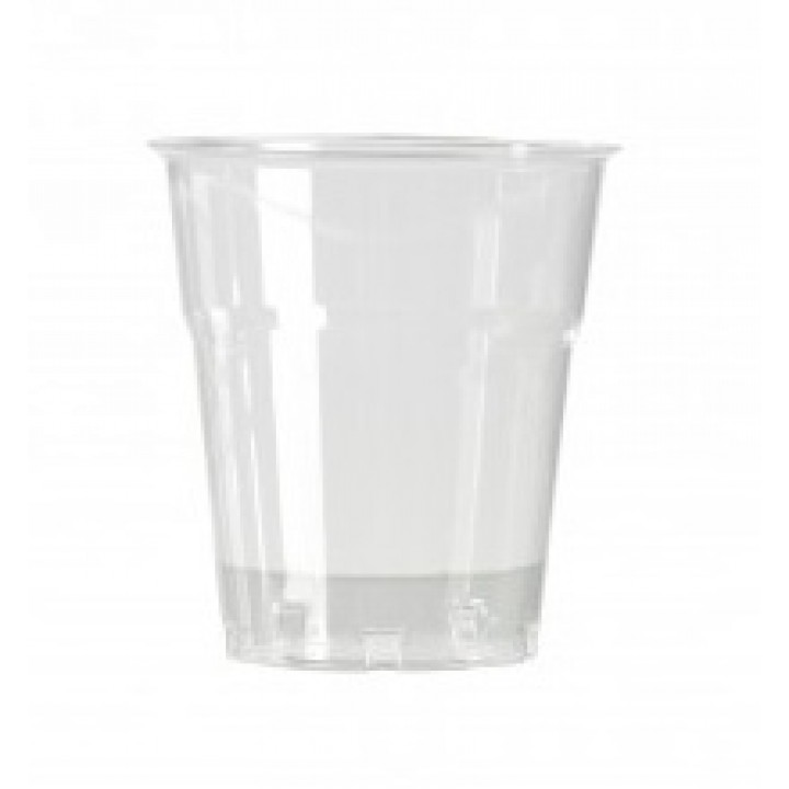 Lot de 50 verres jetables en plastique transparent 16 cl