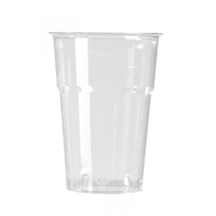 Lot de 50 verres jetables en plastique transparent 57 cl