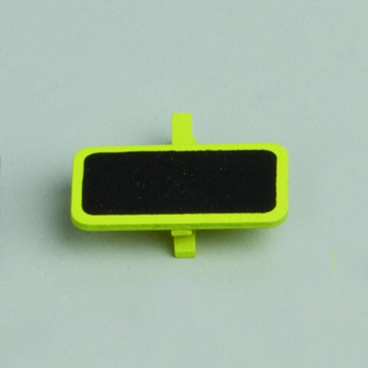 Lot de 6 ardoises rectangle vert avec pince  4 x 2 cm