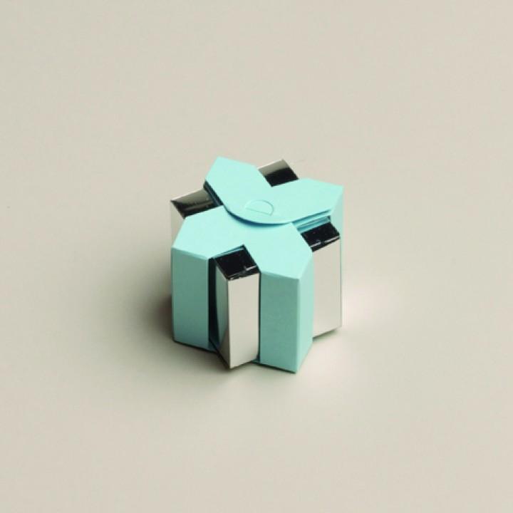 Lot de 6 boîtes Livia miroir bleues