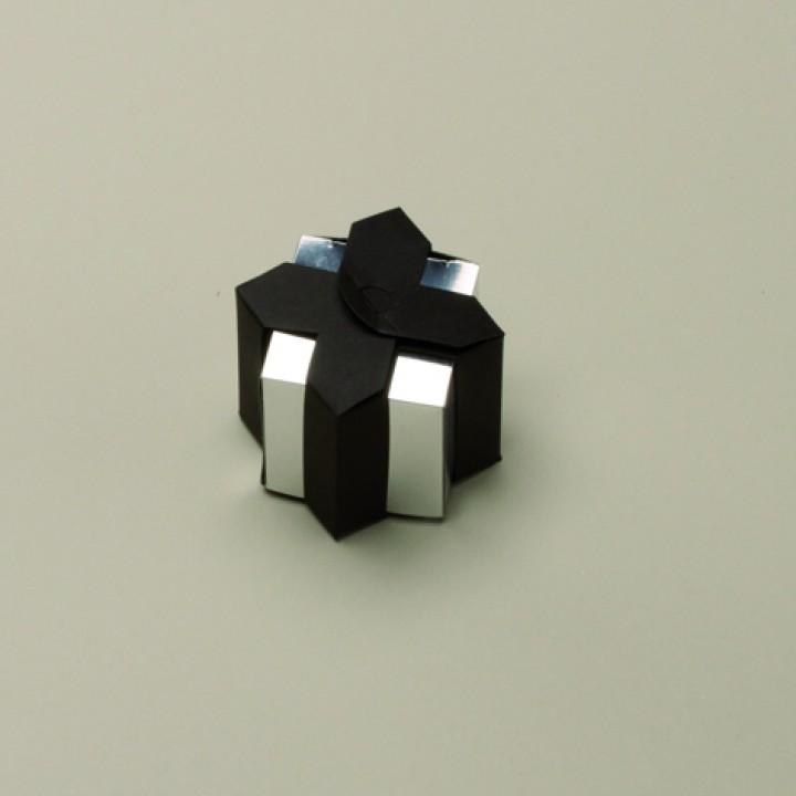 Lot de 6 boîtes Livia miroir noires
