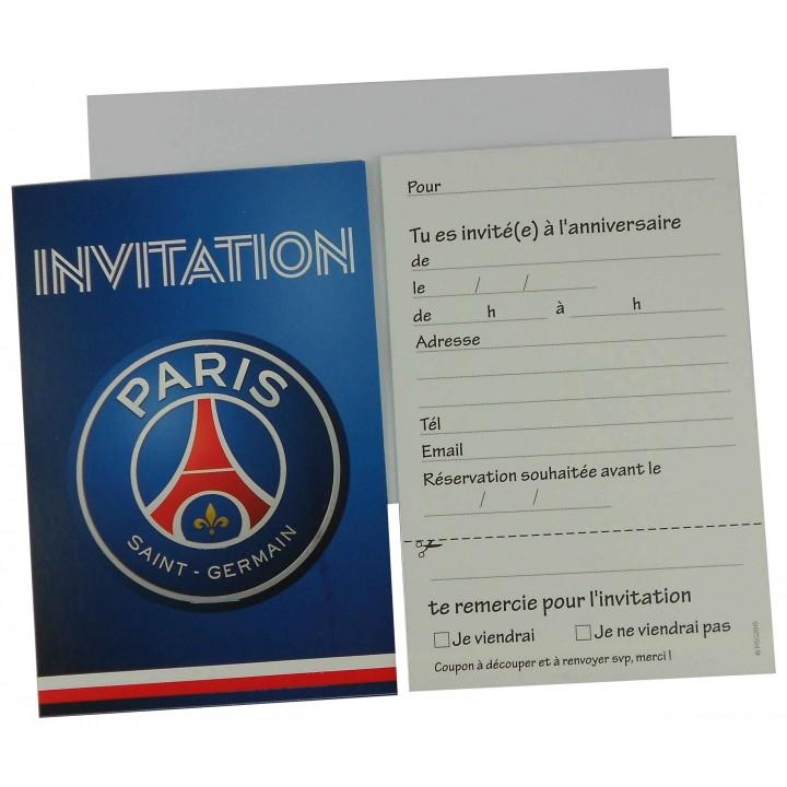 Lot de 6 cartes d 39 invitation psg avec enveloppes - Carte anniversaire simpson ...