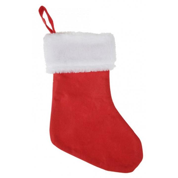 Chausette De Noel Lot de 6 chaussettes de Noël en tissu 8 x 14 cm