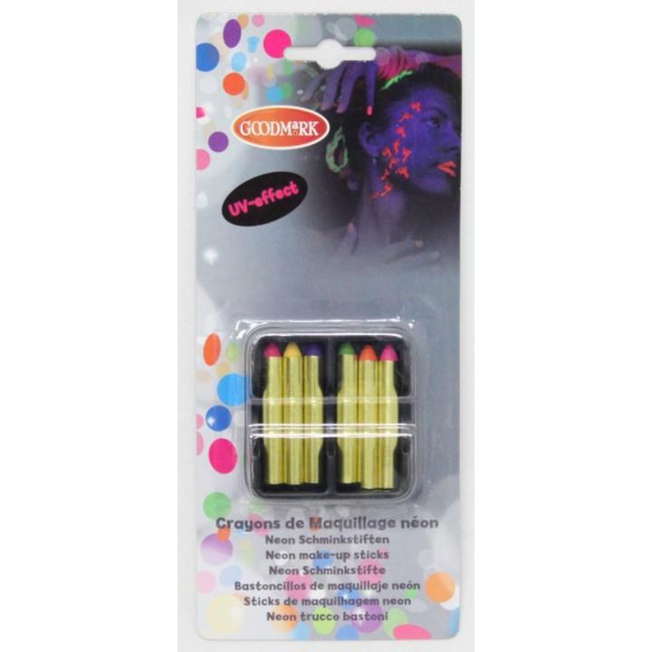 Lot de 6 crayons gras fluo