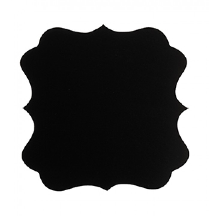Lot de 6 étiquettes adhésives carrées forme vintage façon ardoise